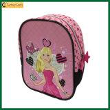 Karikatur-rosafarbenen Rucksack-Schule-Beutel für kleines Mädchen (TP-BP218) schneiden