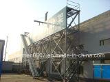 Corredor central de alumínio marinho, escada do cais, escada de alumínio
