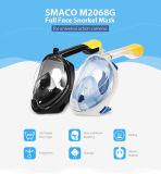 Respiração livre Anti-Fog & Anti-Escape máscara do Snorkel de um mergulho de 180 graus