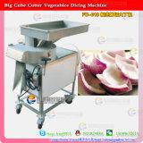 Zanahoria que corta en cuadritos para la cortadora grande de la cebolla de los cubos