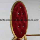 Нержавеющая сталь короля Трона с стулом банкета бархата