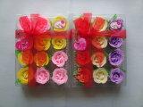 Flores de papel del jabón en el regalo fijado para la promoción