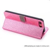 Schitter Geval van de Telefoon van de Cel van de Portefeuille van het Leer van Pu het Mobiele voor iPhone 8/8plus7/7plus/6s/6splus