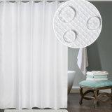 Tenda di acquazzone impermeabile tessuta cialda della stanza da bagno del tessuto del poliestere (02S0004)