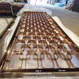 New Design Rose Golden Mirror Finish Partition en acier inoxydable