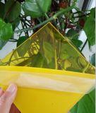 Folha amarela do policarbonato