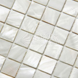 Hot Sale White Square Mosaico de concha natural Mãe de pérola
