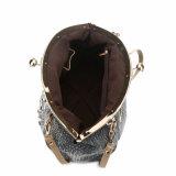 Mulheres Deluxe Moldura Rhinestones França Elegante Denim Shoulder Bag (MBNO040041)