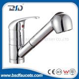 La singola maniglia della molla d'ottone estrae il rubinetto del dispersore del bacino della cucina