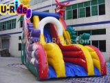 Dragon coloré gonflable géant gonflable Diapositive Bounce Faites glisser la diapositive pour la publicité de l'événement de l'eau