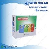 3개의 LED 전구를 가진 5W 휴대용 소형 태양 PV 시스템