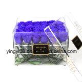 Flor de acrílico de alta calidad caja con tapa