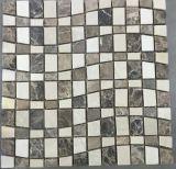 焦茶のアーク形の石のタイル
