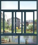 Горячее окно Tempered стекла двойника продавеца алюминиевое сползая