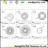 Dissipatore di calore di alluminio dell'espulsione di profilo del tubo del cerchio di Guangzhou