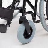 Manual de acero, plegable, desmontable, sillón de ruedas (YJ-023I)