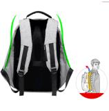 盗難防止の男女兼用のラップトップのバックパック袋USBポート旅行業務用コンピュータのパソコン袋