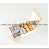 Случай ювелирных изделий ремесленничества коробки подарка упаковки ювелирных изделий Rentangle деревянный