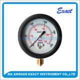 캡슐 압력 측정하 까만 강철 압력계 낮은 연결 계기