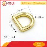Logo en métal en alliage de zinc D Ring Bague personnaliser sac à main D