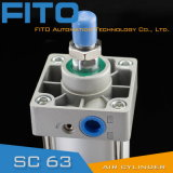 Standardluft-pneumatischer Zylinder der Serien-Sc63 treffen auf ISO6430 zu