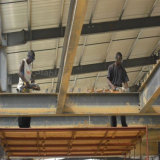 Bien conçu portique Structure en acier préfabriqués Entrepôt pour le Gabon