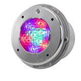 Luz subaquática do diodo emissor de luz do vidro Tempered de aço inoxidável 304 para a piscina