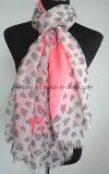 Écharpe estampée par coton bon marché de polyester de la mode des femmes (HWBPS099)