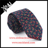 Cravate florale faite sur commande de mode chinoise estampée par coton