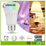 Colore di E26 9W che cambia la lampadina astuta WiFi del LED gestito con Controlor a distanza