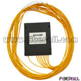 Divisor de fibra óptica del PLC con el rectángulo del ABS y el conector de FC