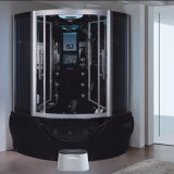 1400mm Sector Black Steam Sauna con Jacuzzi y Tvdvd (AT-G9050TVDVD)