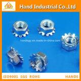 Tuerca de fijación métrica inoxidable de la talla K del precio de fábrica de acero A4
