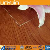1,5 mm de plástico de madera del grano de PVC auto-adhesivo de pisos de vinilo