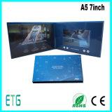 LCD van de douane de VideoKaart van de Groet van de Brochure met Cardbusiness