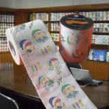 L'allumeur estampé de papier de toilette a personnalisé le roulis de tissu de salle de bains