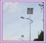 8m avec des feux de route solaire 60W LED Bridgelux (KY-LD07)
