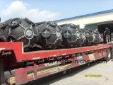 Fender de borracha pneumática marinha com corrente galvanizada e pneu fabricado na China