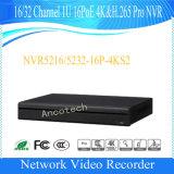 Vigilancia NVR (NVR5216-16P-4KS2) del canal 1u 16poe 4k&H. 265 de Dahua 16 FAVORABLE