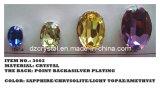 Steen van het Kristal van het Punt van de Vorm van de kwaliteit de Ovale Achter (3002)