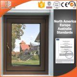La ventana de aluminio del toldo de la rotura termal y Exterior-Hace pivotar el hardware de Alemania de la ventana, ventana digna de confianza