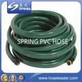 Гибкий шланг сада PVC зеленый с регулируемым соплом