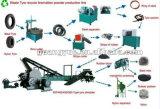 Используемая линия машина Recycline покрышки для резиновый порошка