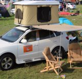까만 쉘 SUV 차를 위한 카키색 직물 지붕 상단 천막