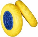 9 anni di fabbrica qualsiasi rotella piana 4.00-8 dell'unità di elaborazione del carrello di carta bianca della gomma piuma dell'unità di elaborazione di pollice