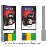 La publicidad de la protección del medio ambiente al aire libre de la cartelera solar Basura-Puede movimiento en sentido vertical Lightbox del cubo de basura LED