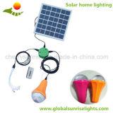 sistema de iluminação solar Home portátil do painel solar de 6W 11V com o 1 carregador do telefone móvel das luzes