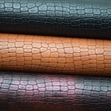 Krokodil-Haut-Muster PU-Leder, strukturiertes synthetisches Beutel-Leder