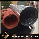 Plastique de tension de poste en gros/prix ondulé en acier de conduit