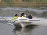 Liya 14FT fibra de vidrio costilla pequeño barco inflable con motor (LY430)